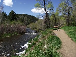 Bear Creek (Colorado) - Bear Creek in Lair o' the Bear park.