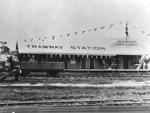 Beaudesert Shire Tramway - Image: Beaudesert Tramway Station 1927