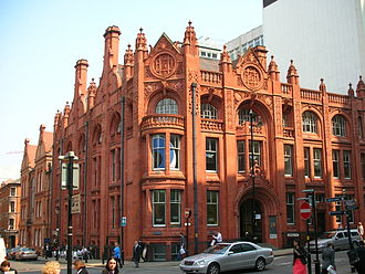 Telephone company - The Edison Bell Telephone Company building of 1896 in Birmingham, England