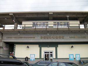 Bellmore (LIRR station) - The south side of Bellmore Station from the parking lot