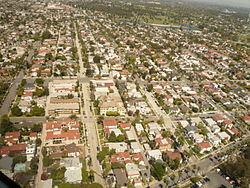 The Belmont Heights neighborhood of Long Beach, California, looking north.
