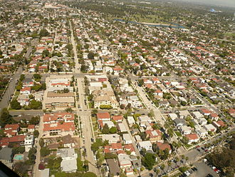 Belmont Heights, Long Beach, California - The Belmont Heights neighborhood of Long Beach, California, looking north.