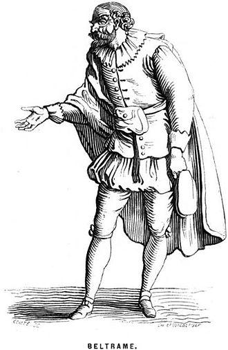 Niccolò Barbieri - Beltrame, one of Barbieri's most popular characters
