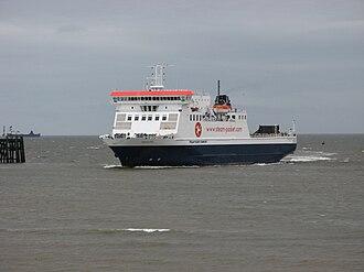 MS Ben-my-Chree - Image: Ben My Chree, approaching Heysham Harbour