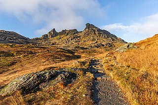The Cobbler 884m high mountain in Scotland