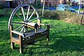 Bench with a coach-wheel back - geograph.org.uk - 1130529.jpg