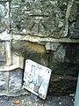 Benchmark on wall outside Folly Bridge Inn - geograph.org.uk - 2068009.jpg