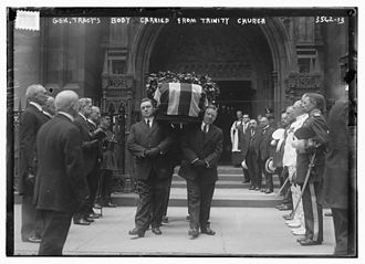 Benjamin F. Tracy - Benjamin F. Tracy's body carried from Trinity Church