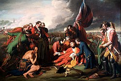 Benjamin West, La morte del generale Wolfe, 1770, olio su tela, National Gallery of Canada, Ottawa.