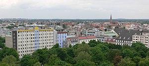 Berlin, Ortsteil Gesundbrunnen, Blick von der ...