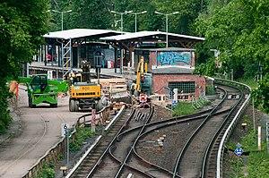 Berlin Yorckstraße station - Yorckstraße (Großgörschenstraße) S-Bahn station, platforms and tracks