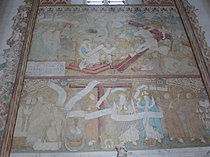 Gothic wall frescoes of the Church of St. Francis and St. Bernard (16th century) Bernardinerkirche Vilnius 1.jpg