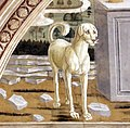 Bernardo di stefano rosselli, caino e abele, 1474, 02,2 cane.jpg