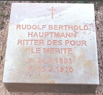 Rudolf Berthold - The new grave stone on the Invalids' Cemetery.
