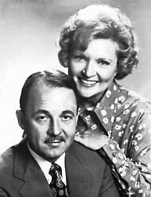John Hillerman - Hillerman and Betty White in a 1977 publicity photo for The Betty White Show