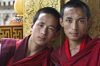 Friendship - Two friends in Bhutan