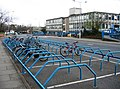Bicycle racks outside the MRC Lab - geograph.org.uk - 766034.jpg