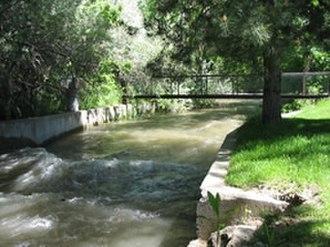 Big Cottonwood Creek - Big Cottonwood Creek near Big Cottonwood Park