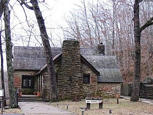 National Register of Historic Places listings in Carter County, Missouri - Image: Big Spring Lodge MO NPS