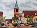 Bild von alt Durmersheim auf der Höhe vom Gasthaus Wolf (Orginal hängt im Heimatmuseum) - panoramio.jpg