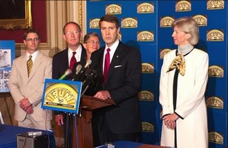 Bill Frist - Sen. Frist with Sen. Lamar Alexander and Interior Secretary Gale Norton