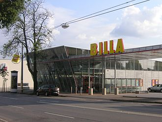 Billa (supermarket) - On the outskirts, more adventurous designs can be found. This Billa store is in Favoriten, Vienna