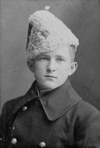 Billy Bishop - Bishop as an RMC cadet, c. 1914
