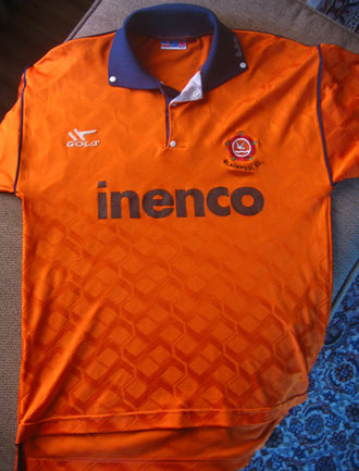 Blackpool F.C. - Lytham St Annes-based energy-conservation company Inenco sponsored Blackpool for three seasons in the early 1990s.