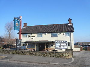 Calow - Image: Blacksmiths Arms, Calow 693123 3d 98898d by Alan Heardman