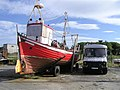 Boat and van, Buncrana - geograph.org.uk - 1380076.jpg