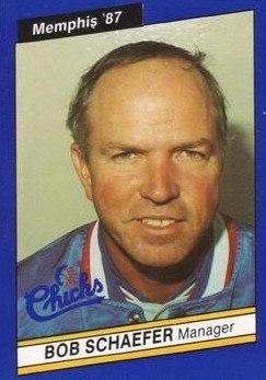Bob Schaefer (manager) - Memphis Chicks - 1987