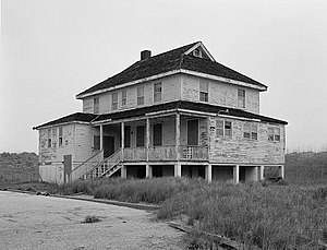 National Register of Historic Places listings in Dare County, North Carolina - Image: Bodie Island Lifesaving Station, Off Highway 12, Nags Head vicinity (Dare County, North Carolina)