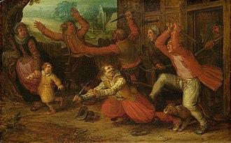 David Vinckboons - Image: Boerenvreugd Rijksmuseum SK A 1352