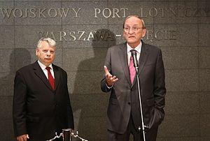 Seán Barrett (politician) - Sean Barrett (right) with Bogdan Borusewicz in Warsaw (2014)