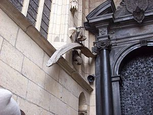 Wawel Dragon - A purported dragon bone hanging outside of Wawel Cathedral