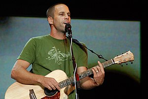 English: Jack Johnson performing at the 2008 B...