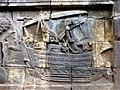 Borobudur - Divyavadana - 088 N, The Landing of Bhiru and foundation of Bhiruka (detail 3) (11706028334).jpg