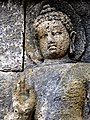 Borobudur - Lalitavistara - 072 W, Arada Kalama offers the Bodhisattva Joint Leadership (detail 1) (11249457695).jpg