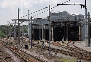 Bounds Green TMD traction maintenance depot situated in North London