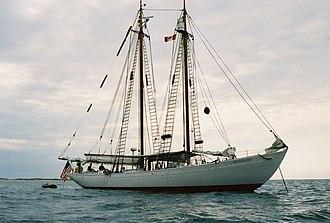 Hodgdon Yachts - Bowdoin at anchor off Sable Island, Nova Scotia