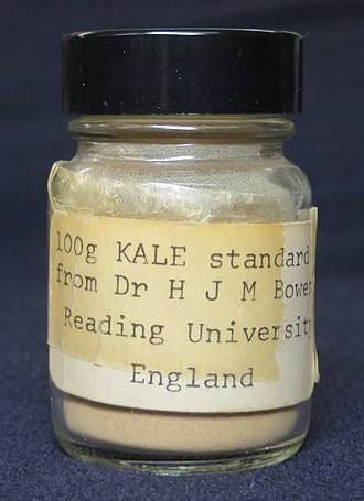 Humphry Bowen - A jar of the botanical reference material Bowen's Kale, in the collection of the Museum of the History of Science, University of Oxford, England.