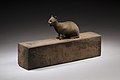 Box for animal mummy surmounted by a cat, inscribed MET LC-12 182 27 EGDP023745.jpg