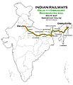 Brahmaputra Mail (Dibrugarh - Delhi) Express Route map.jpg
