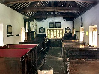 Victorian restoration - The unrestored interior of the Puritan Chapel, Bramhope, West Yorkshire