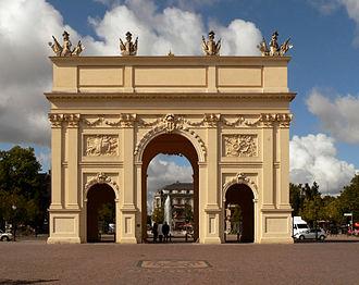 Brandenburg Gate (Potsdam) - Brandenburg Gate from the city side by Carl von Gontard