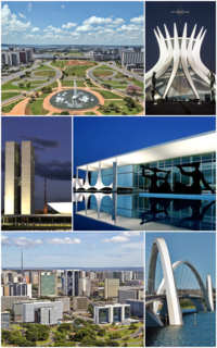Brasília Federal capital in Central-West, Brazil