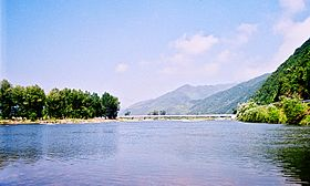 Bridge on Hunjiang river - Pabao Line - panoramio.jpg