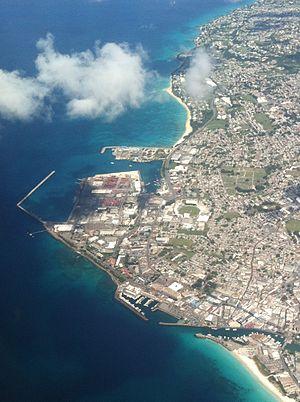 Saint Michael, Barbados - Aerial view of Bridgetown
