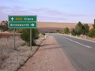 Brinkworth, South Australia - Turnoff to Brinkworth from Horrocks Highway north of Clare