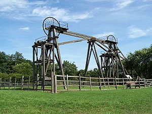 Brinsley Colliery - Brinsley headstocks in August 2005